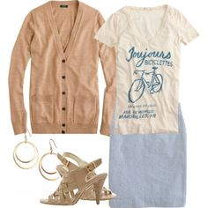 Bicyclettes, created by modestly-styled on Polyvore