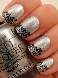 Lace Nails (maybe with white instead of black)