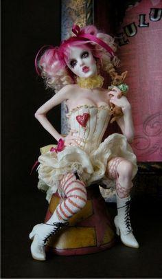 Bohemian Circus - Lulu & Fifi - Nicole West Fantasy Art...love love love. Twisted beauty at its finest.