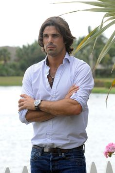 Nacho Figueras wearing a Piaget Polo watch