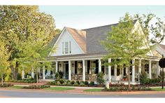Farmhouse Revival Plan #1821 | Wide porches, thoughtful layouts, and Southern details you'll love.