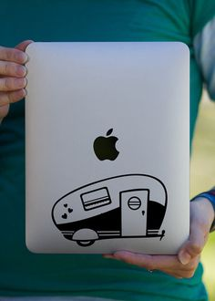 Retro Travel Trailer iPad Decal. I do not even have an iPad yet, but this is necessary LOL