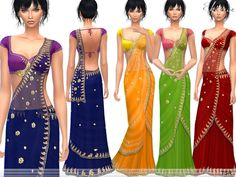 The Sims Resource: Saree - 1 by ekinege • Sims 4 Downloads