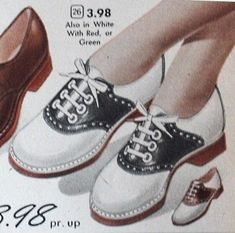 Oxford shoes of the 1920's gave women a change from high heels used for the previous decades, giving comfort and style.