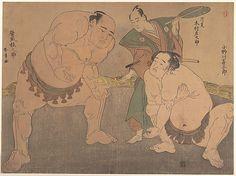 Katsukawa Shunshô (Japanese, 1726–1792). The Wrestlers, ca. 1785. Edo period (1615–1868). Japan. The Metropolitan Museum of Art, New York. Rogers Fund,1925 (JP1458) #Olympics #London2012