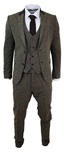 Mens Brown 3 Piece Herringbone Tweed Suit Vintage Retro Slim Fit Smart Formal CB http://www.amazon.co.uk/dp/B01A5YQUO0/ref=cm_sw_r_pi_dp_DpJMwb1X540ME