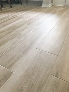 Home remodeling wood tile floors – Home living color wall treatment kitchen design Plank Tile Flooring, Wood Plank Flooring, Farmhouse Flooring, Wood Tile Floors, Carpet Flooring, Wood Planks, Hardwood Floors, Flooring Ideas, Wood Tile Kitchen