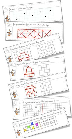 *plenty of mats/geometry printables here Math Games, Learning Activities, Kids Learning, Math Patterns, Kindergarten Lesson Plans, Pre School, Elementary Schools, Teaching, South Africa