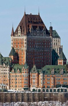 CHÂTEAU FRONTENAC, QUÉBEC ~ Château Frontenac is a grand hotel operated as Fairmont Le Château Frontenac. It was designated a National Historic Site of Canada in 1980. Location: ~1 Rue Des Carrières Québec QC G1R 4P5 Canada
