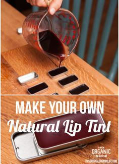 Make Your Own Natural Lip Tint via This Organic Life. DIY beauty - Make Your Own Natural Lip Tint via This Organic Life. DIY beauty Informationen zu Make Your Own - Natural Lips, Natural Make Up, Natural Hair, Make Your Own Makeup, Make Your Own Lipstick, Diy Lip Balm, Organic Makeup, Organic Lip Balm, Natural Beauty Tips