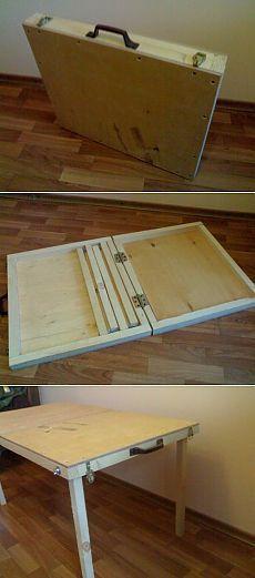 Folding picnic table.