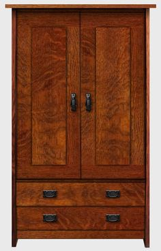 Arts & Crafts Mission Style Bedroom Armoire by WestCoastCraftsman, $2399.95