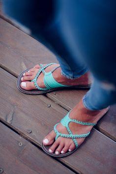 4e1bdd59b Handwoven Sandals for Women. Rope SandalsFlat SandalsTurquoise SandalsComfortable  ShoesSexy FeetBarefootDesigner ShoesFlip FlopsLust