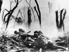 U.S. Soldiers, Argonne Forest, France, 1918.