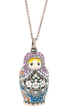 Mamuska Necklace Matrioska- Matroschka- Matriochka- Matrjosjka- russische Puppe Matroesja- Russian Nesting Doll   www.matrioskas.es