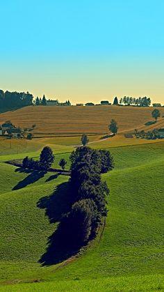 Autumn fields panorama. Berg bei Rohrbach, Austria / Österreich