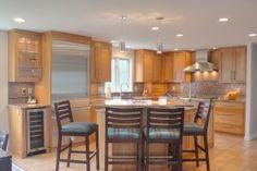 Kitchen counter backsplash cherry kitchen appliances brick granite