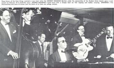 The George Shearing Quintet was among the popular artists to perform for students at McArthur Court during the 1953-54 school year. From the 1954 Oregana (University of Oregon yearbook). www.CampusAttic.com