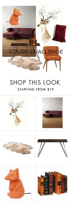 """""""Fall home."""" by justpleun ❤ liked on Polyvore featuring interior, interiors, interior design, home, home decor, interior decorating, Anthropologie, UGG Australia, Modloft and House of Disaster"""