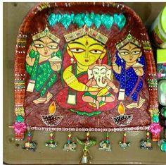Sup or chazh Madhubani Art, Madhubani Painting, Worli Painting, Fabric Painting, Thali Decoration Ideas, Decorations, Jamini Roy, Recycled Paper Crafts, Horse Wallpaper