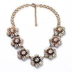 Crystal Cluster Statement Nekclace – Fanduoduo Jewelry
