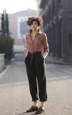 Calça Clochard / Estilo Tomboy / Blog Bugre Moda / Imagem: Pinterest / Reprodução