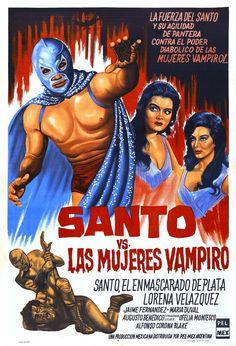 Classic Santo Mexican Wrestling Poster! Lucha Libre Semiotic Paradise