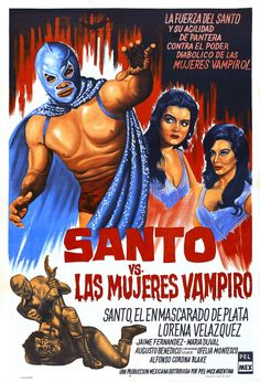 Mextasy: Classic Santo Mexican Wrestling Poster! Lucha Libre Semiotic Paradise