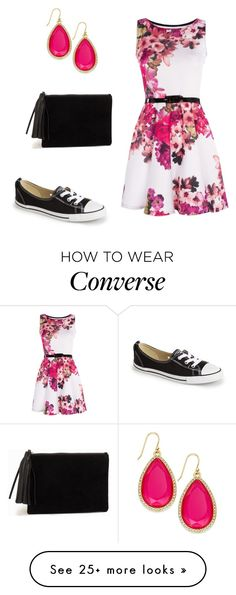 """""""Pink and Floral"""" by maxine128 on Polyvore featuring Converse, Kate Spade and NLY Accessories"""