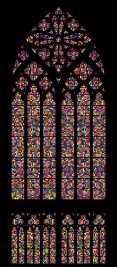 gerhard richter's stained class window in the cologne cathedral, germany.
