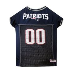 Mirage Pet Products Puppy Dog Cat Costume New England Patriots Sports Team Logo Jersey Large -- For more information, visit image link.