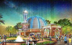 Planet Hollywood is transforming its iconic globe at  Downtown Disney  into a turn-of-the-20th-century observatory. Walt Disney World, Disney World News, Disney World Resorts, Disney Parks, Orlando Florida, Orlando Theme Parks, Downtown Disney, Disney Springs, Walt Disney Imagineering