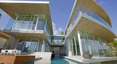 Avicii's Bird Streets mansion in Los Angeles has an impressive facade.   (McClean Design)