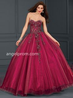 Ball Gown Sweetheart Appliques Quinceanera Dresses
