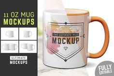 11 oz Mug Mockup Templates - Product MockupsGreen & White Mockups Bundle + Bonus - Product Mockups                      -partner link