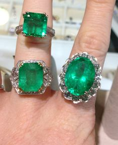 #emerald rings: a square cut emerald ring, art deco inspired emerald ring, 13 carat emerald ring