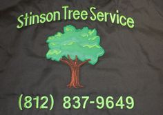 Stinson Tree Service.  A combination of embroidery and twill.  Made by Top It Off.