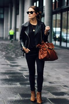 Black and leopard print.