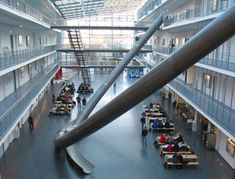 Technical University of Munich: four-story slides.  (via cabbagerose)