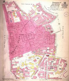 Les plans d'assurance d'Istanbul de Charles Edouard Goad, circa 1904, Grand Bazaar area | Mavi Boncuk