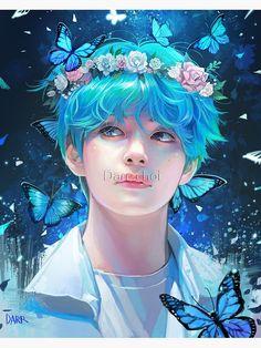 Bts Chibi, Kpop Fanart, Anime Art Girl, Anime Guys, Anime Fan Art, Anime Male, Image Princesse Disney, Taehyung Fanart, K Wallpaper