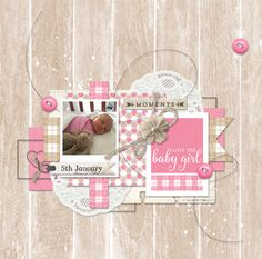 Digital Scrapbooking Layout with all product from DesignerDigitals