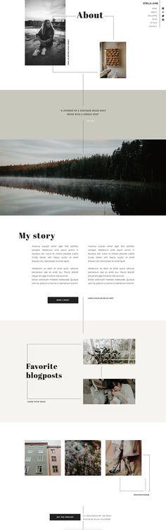 One-of-a-kind Showit template voor een statement website met creatieve vrijheid. Website Design Layout, Layout Design, Web Design, Law Firm Website, Layout Inspiration, Interactive Design, Website Template, Templates, Minimal