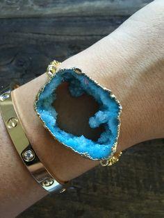 Crystal Waters Druzy Bracelet - Jugar N Spice