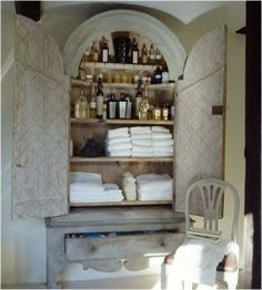 repurposed armoire | Repurpose Armoire as bathroom cabinet | Home