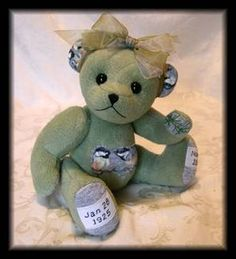 Hand made bears from your special fabric (passed away relatives clothes, wedding dress, etc...)