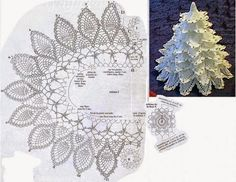 Crochet y dos agujas: Pino blanco de Navidad al crochet