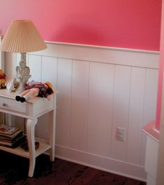 Wainscoting in a little girl's room.