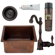 Premier Copper Products brings you a bar sink package that will elevate the style of your home. This set includes a sink, faucet, drain, installation silicone and wax cleaner to help you along with your room update.