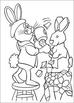 Peter Cottontail Kleurplaten voor kinderen. Kleurplaat en afdrukken tekenen nº 2
